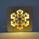 Ambiwood, favágó lámpa, hópehely, 19x19x13