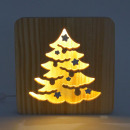 Ambiwood, woodcut lamp, Christmas tree, 19x19x