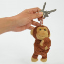groothandel Stationery & Gifts: Pluche aap met baby, sleutelhanger, 13cm
