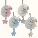 wholesale Toys: Baby plush toy music box, duck with moon, 4 colors