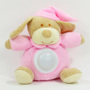 wholesale Toys: Baby stuffed animal with night light, dog, 4 color