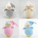 Baby plush toy wiggle figure, duck, 4 colors sorti