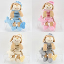wholesale Dolls &Plush: Baby plush toy Gripping spiral, dog, 4 colors sort