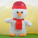 Karácsonyi töltött állatok, hóember, kb. 25cm