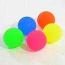 Großhandel Spielwaren: Maxi-Flummi, neon, 6cm, 5 Farben sortiert, 9 Stück