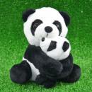 Labrador panda con bambino,