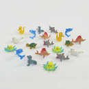 wholesale Toys: Colorful sea animals, approx. 5 cm, 20 pieces per