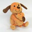 Plüss kutya babával, 16cm
