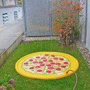 Water sprinkler mat, inflatable, pizza, approx. 17