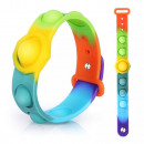 Plopp Up Toy, Push Pop Rainbow Bracelet, F.