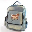 Horseracing Schoolbag, large, 40x32cm
