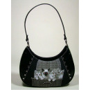 wholesale Handbags: Cat handbag large, retro, smile-bags, 26x22cm
