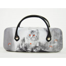 wholesale Fashion & Apparel: Cat Eyeglass Case, Retroline 16x4x7cm