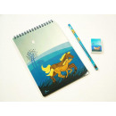 groothandel Stationery & Gifts: Magic Horse Pen 3 stuks, 21x14cm