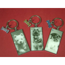 Key pendant with dog 6x3cm