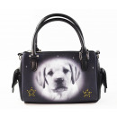 Handbag Labrador Head, Retro, Smile Bags 15x20c