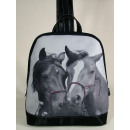 Backpack, horse charcoal, retro, 27,5x12x31,5cm