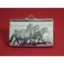 wholesale Travel Accessories: Cosmetic bag, round, 3 horses, retro, 12x5x8cm