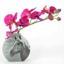 Retro üveg váza, Haflinger, 14,8x3,8x15cm, Mario M