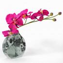 Retro üveg váza, Prince Pug, 14,8x3,8x15cm, Mario