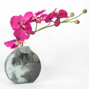 wholesale Flowerpots & Vases: Retro glass vase, Tricolor-Kitten, 14,8x3,8x15cm,