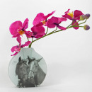 wholesale Flowerpots & Vases: Retro glass vase, horse love, 14,8x3,8x15cm, Mario