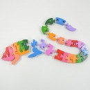 Learning puzzle letters, lizard wooden, 30x12x1,