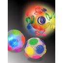 grossiste Jouets: Crazy Ball avec effet de lumière, carton 80mm, 6 à