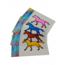 Gel-Adhesive-horses, 4 motifs in 4 different