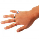 wholesale Jewelry & Watches: Children's  rings, 7 motifs, assorted, colors a