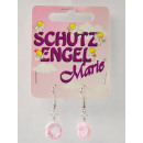 Earrings on a card, protective gel jewelry, pink