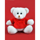Kögler cuddly toys, bear with T-Shirt, white, 12cm