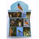pájaros mini libreta, 6x8cm, 6 surtido, en
