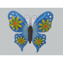 Butterfly wall decoration, metal, 2-way assorted,