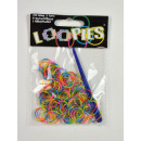 Loopies, Loom Bandz, 3-tone, 3 koloru, 100, 1 pier