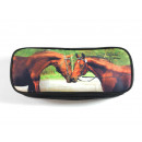 wholesale Gifts & Stationery: Mario Moreno, Federmäppchen, kissing horses, 23x5