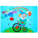 Placemat Happy Birthday Clown motif, 36x26cm