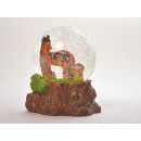 Snow globe, mare with foal, 7,5x6,5x8,5cm