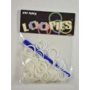 Loopies, Loom Bandz, one color, white, 100 rings,