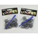 Loopies, Loom Bandz, srebro, 100 pierścienie 6 Ver