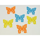 Fabric sticker butterfly, 6 stickers per bag,