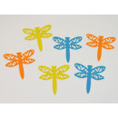 Stoffsticker dragonfly, 6 stickers per bag, approx