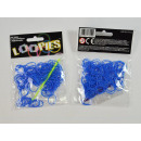 Loopies, Loom Bandz, donkerblauw, 100 ringen, 6 ve