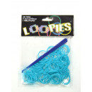 Loopies, Loom Bandz turkusowo 100 pierścienie 6 Ve