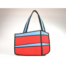 wholesale Haberdashery & Sewing: 2D Waggy Bags, Handbag red, blue, push buttons,