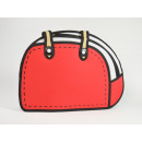 2D Waggy Bags, Handbag, red, white, with zipper