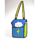 2D Waggy Bags, shoulder bag, blue, green, thunders