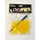 Loopies, Loom Bandz, złoto-żółty 100 pierścienie,