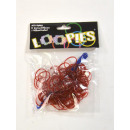 Loopies, Loom Bandz, Wine Red, 100 Rings, 6 Locks