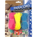 Paracord set, 3 ropes (4,5m), 5 locks, 20 pe